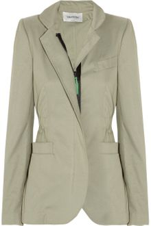 Valentino Cotton And Silk Blend Twill Jacket - Lyst