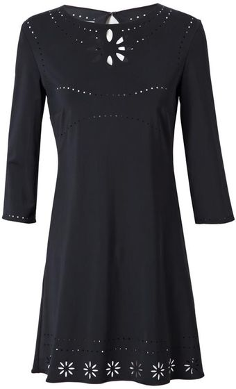 Yasmin Kianfar Laser Cut Lycra Dress - Lyst