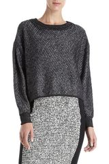 Alexander Wang Cropped Pullover in Black - Lyst