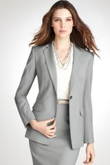 Ann Taylor Tall Tropical Wool Notch Collar Jacket - Lyst