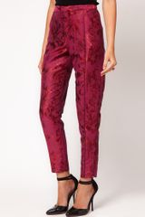 Asos Collection Asos Floral Jacquard Trousers in Purple (pink) - Lyst