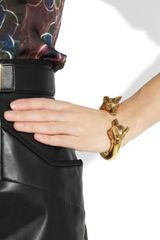 Burberry Shoes & Accessories Burnished Goldtone Fox Bracelet in Gold - Lyst