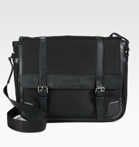 Burberry Renton Messenger Bag in Black for Men - Lyst