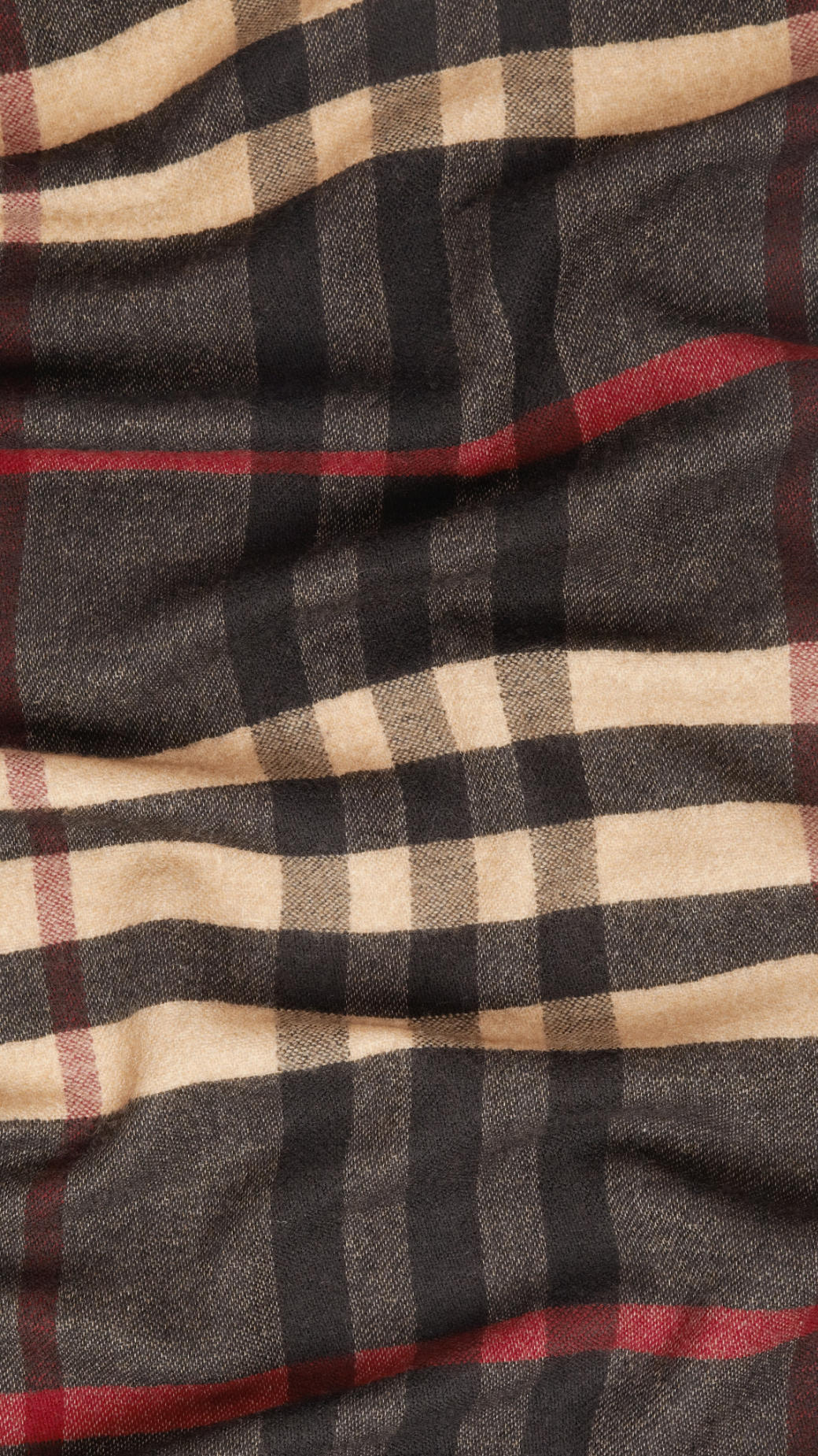 7bf3c84da1f Lyst - Burberry Reversible Check Wool Scarf in Brown for Men