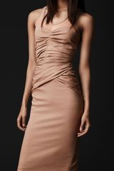 Burberry Prorsum Mesh Detail Silk Dress - Lyst