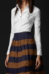 Burberry Prorsum Sparrow Graphic Fitted Shirt in White - Lyst