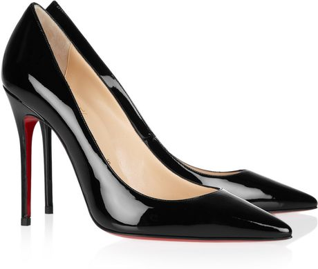 Christian Louboutin Decollete 100 Patentleather Pumps in Black - Lyst