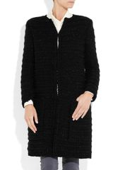 Giambattista Valli Metallicflecked Bouclé Cardicoat in Black - Lyst