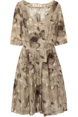 Marni Printed Cotton-voile Dress - Lyst