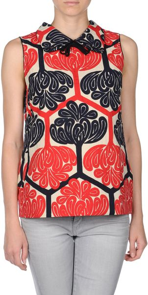 Marni Top in Red - Lyst