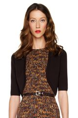 Michael Kors Wool Shrug in Black (chocolate) - Lyst