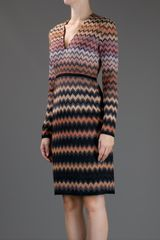 Missoni Vneck Dress in Orange - Lyst