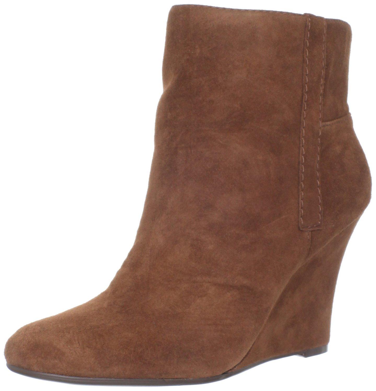 nine west nine west womens gottarun wedge boot in brown