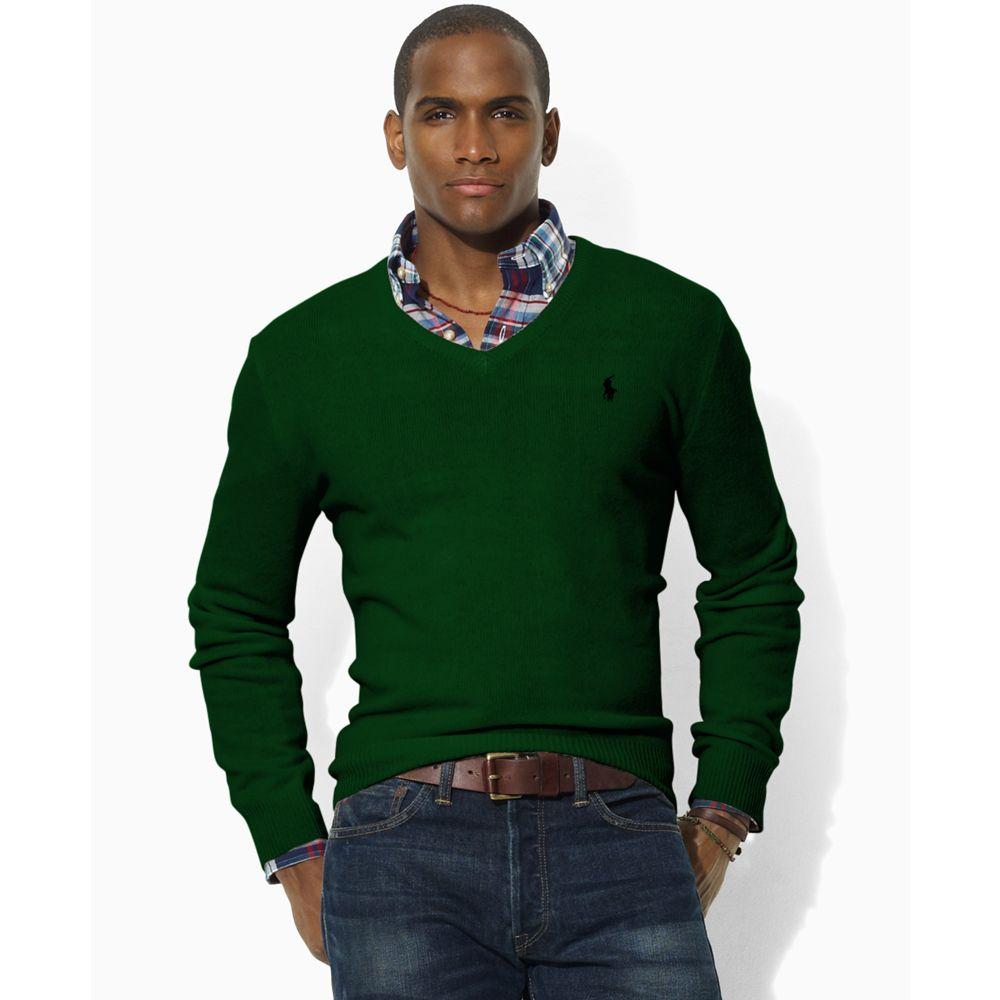 Ralph Lauren Mens V Neck Sweater