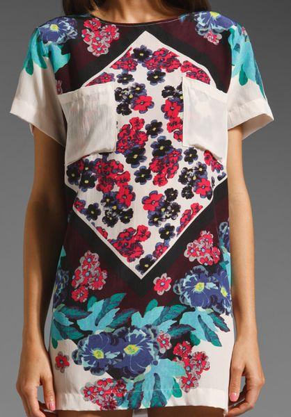 Shakuhachi Scarf Print Tee Dress In Floral Multi Lyst