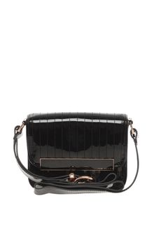 Ted Baker Enamel Flap Front Cross Body Bag - Lyst