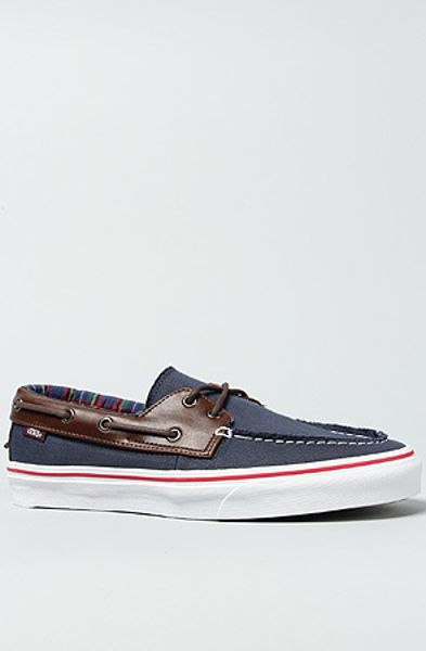 Vans The Zapato Del Barco Boat Shoe in Dress Blue in Blue for Men - Lyst