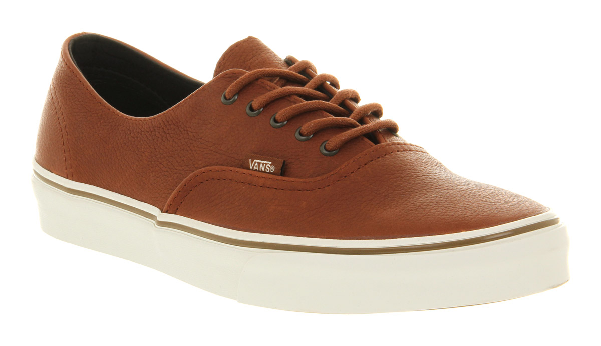 8b540151735d66 Lyst - Vans Authentic Decon Ca Nature Leather Brown Sugar in Brown ...