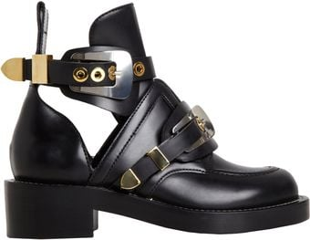 Balenciaga Buckle Ankle Boot - Lyst