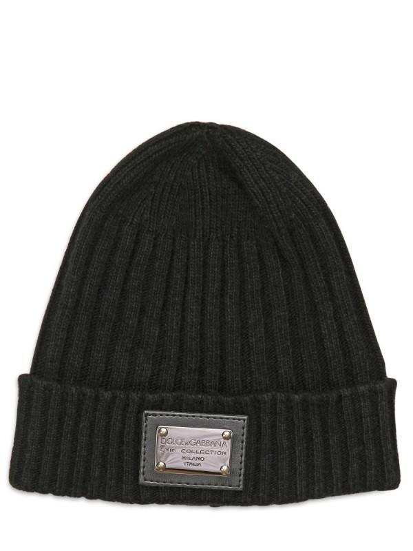 Knitted wool-blend hat Dolce & Gabbana fzNeFoJr
