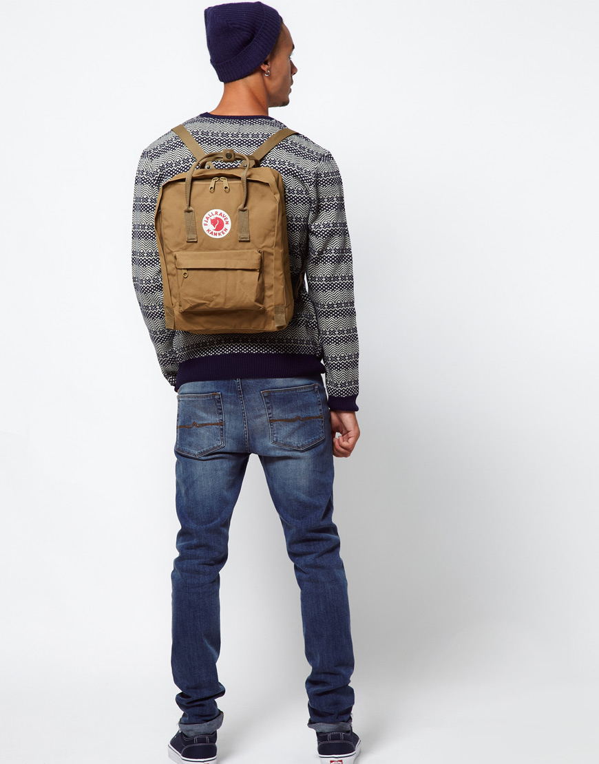 Fjallraven Mens Backpack Sante Blog Kanken Classic Royal Blue Pinstripe Pattern Lyst