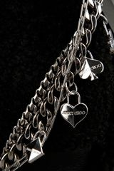 Jimmy Choo Heart Charm Bag in Black - Lyst