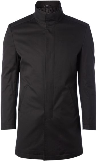 Kenneth Cole Funnel Neck Mac with Internal Zip - Lyst