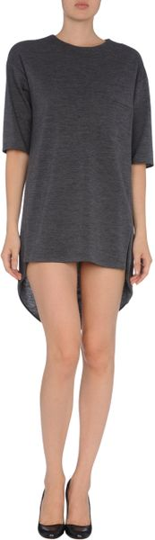Marni Short Dress in Gray (lead) - Lyst