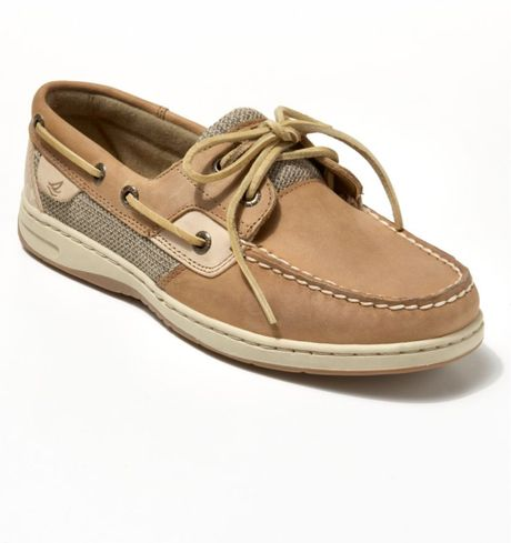 Sperry Top-sider Bluefish Boat Shoes in Beige (linen/oat) - Lyst