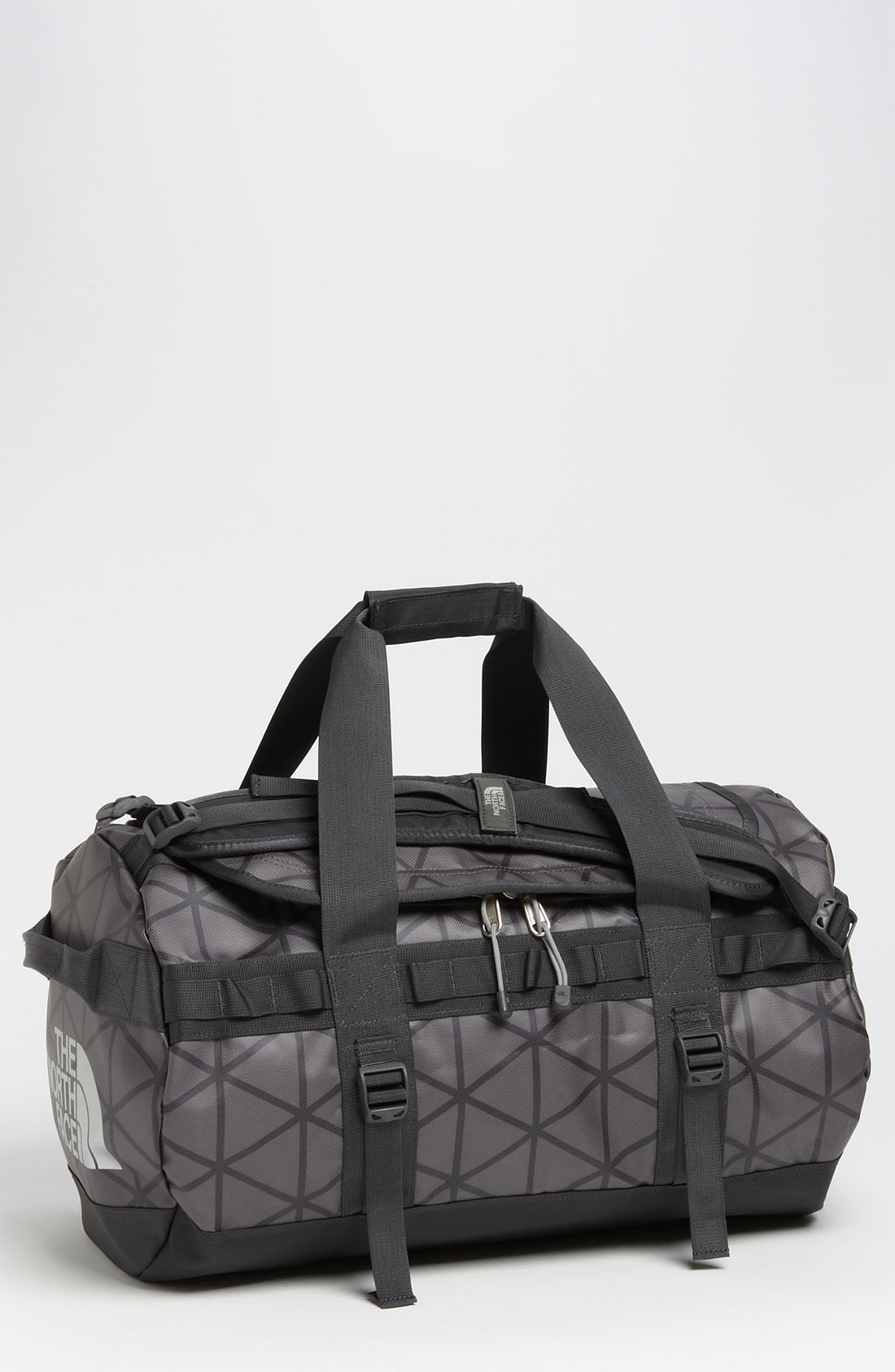 the north face base camp small duffel bag in gray for men. Black Bedroom Furniture Sets. Home Design Ideas