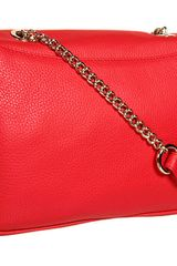 Versace Leather Shoulder Bag  in Red (r) - Lyst
