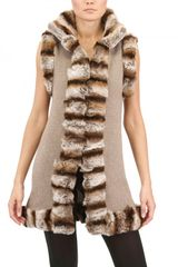 Vicedomini Rex Rabbit and Cashmere Knit Long Vest - Lyst