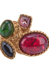 Yves Saint Laurent Embellished Ring in Gold - Lyst