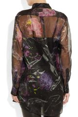 Acne Patsy Bouquet Oversized Silk Organza Shirt in Black - Lyst