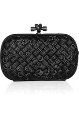 Bottega Veneta Embellished Intrecciato Leather Knot Clutch in Black (nero) - Lyst