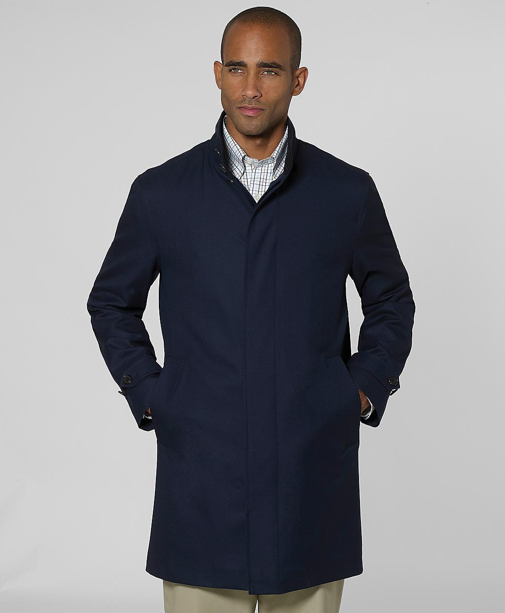 Brooks Brothers Wool Twill Traveler Storm System Coat In
