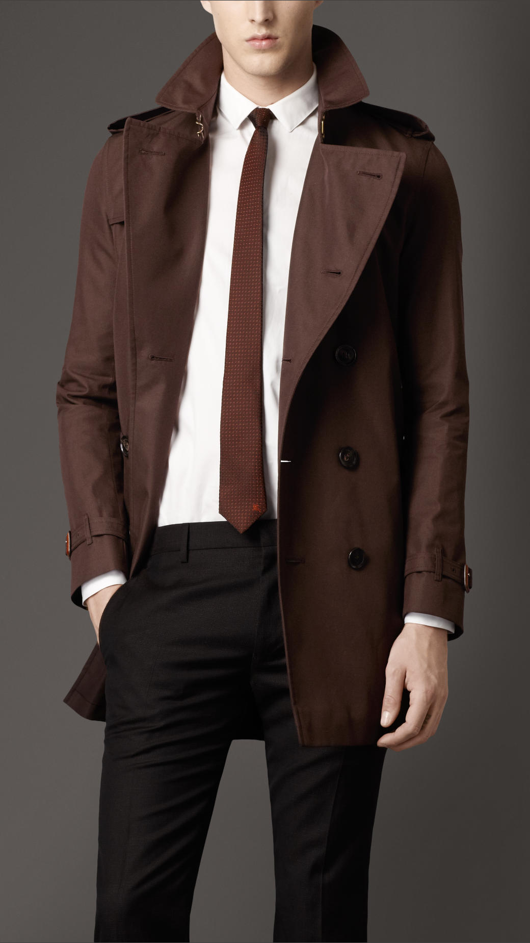Images of Mens Brown Trench Coat - Reikian