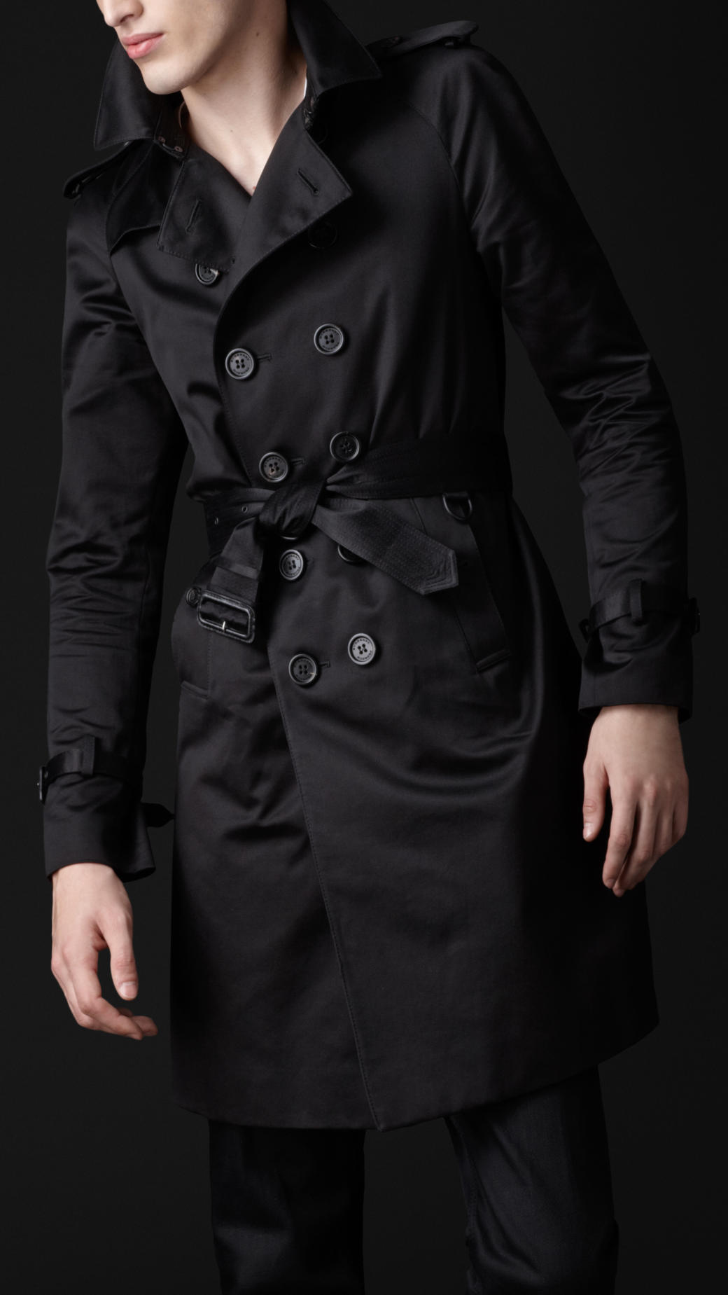 Burberry prorsum Cotton Military Trench Coat in Black for Men | Lyst