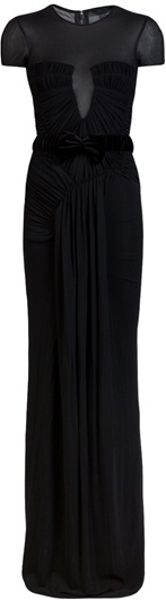 Burberry Prorsum Rouched Gown - Lyst