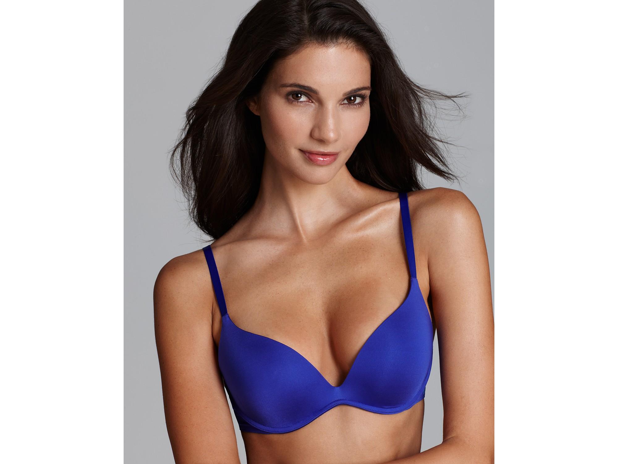 8b6ddb641e Lyst - Calvin Klein Bra Push Positive Body Pushup in Blue