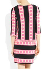 Collette By Collette Dinnigan Printed Stretchjersey Dress in Pink (black) - Lyst