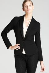 DKNY C Long Sleeve One Button Jacket with Lace Back - Lyst