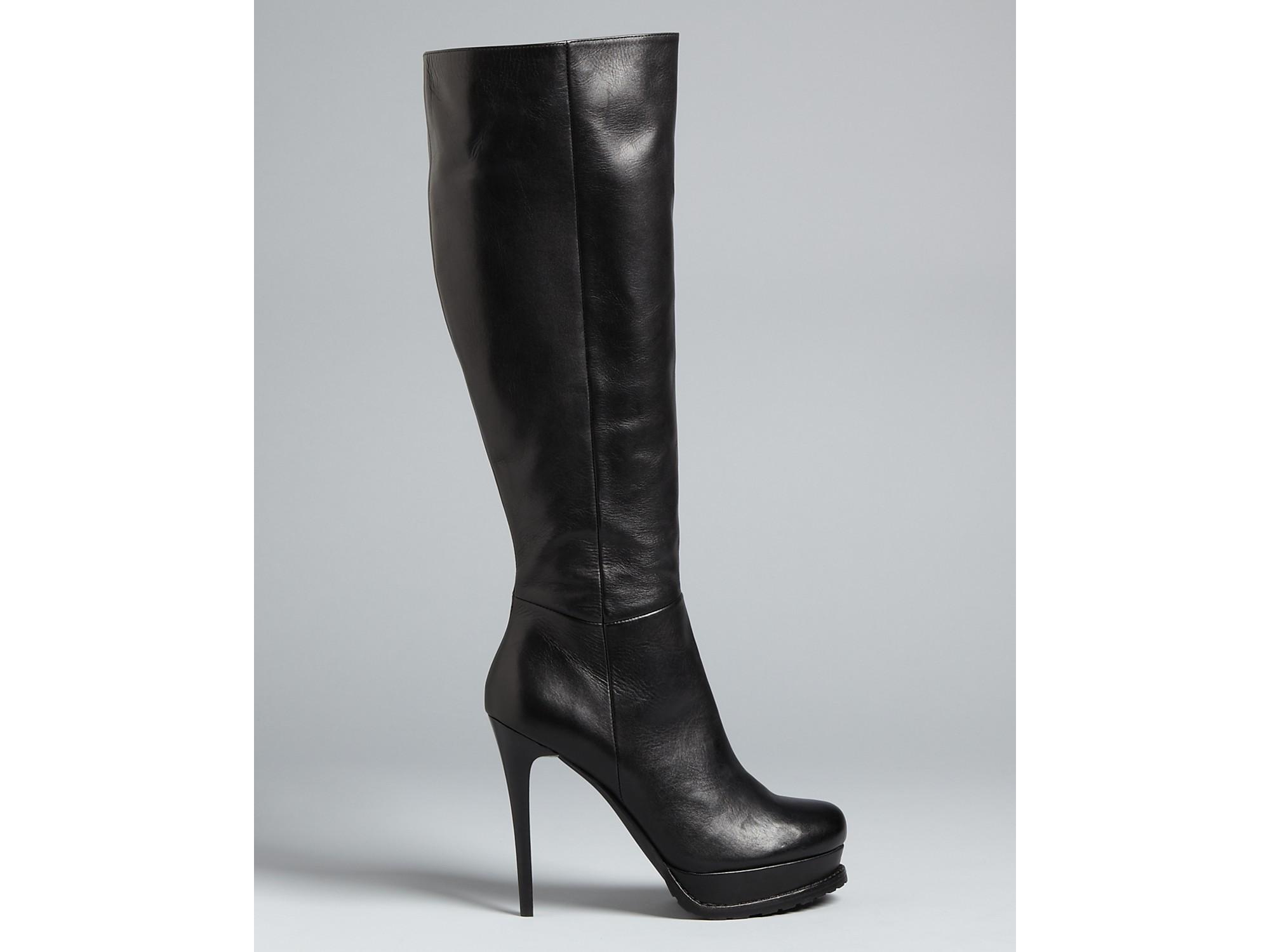 7f65b34f354 Lyst - DKNY Tall Platform Boots Tazon High Heel in Black
