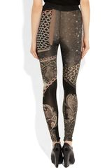 Emma Cook Printed Stretch Jersey Leggings in Black (multicolored) - Lyst