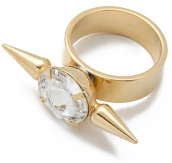 Fallon Jewelry Crystal Spike Ring - Lyst