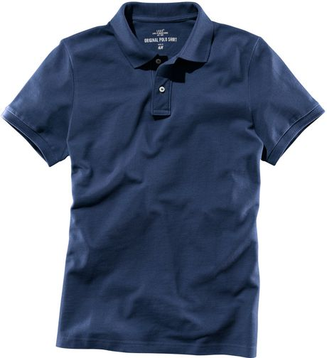 H M Polo Shirt In Blue For Men Lyst