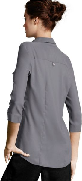 H And M Grey Blouse 44