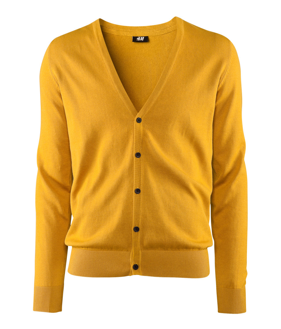 Lyst - H M Cardigan in Yellow for Men 087963c4a