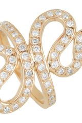 Ileana Makri Snake 18karat Rose Gold Diamond Ring in White (snake) - Lyst