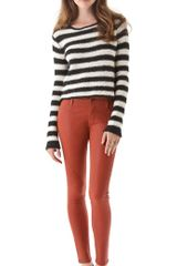 James Jeans Twiggy Slicked Super Skinny Jeans in Red (cinnamon) - Lyst